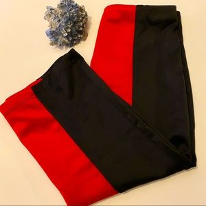 Black and Red Gracie Oaks Pencil Skirt
